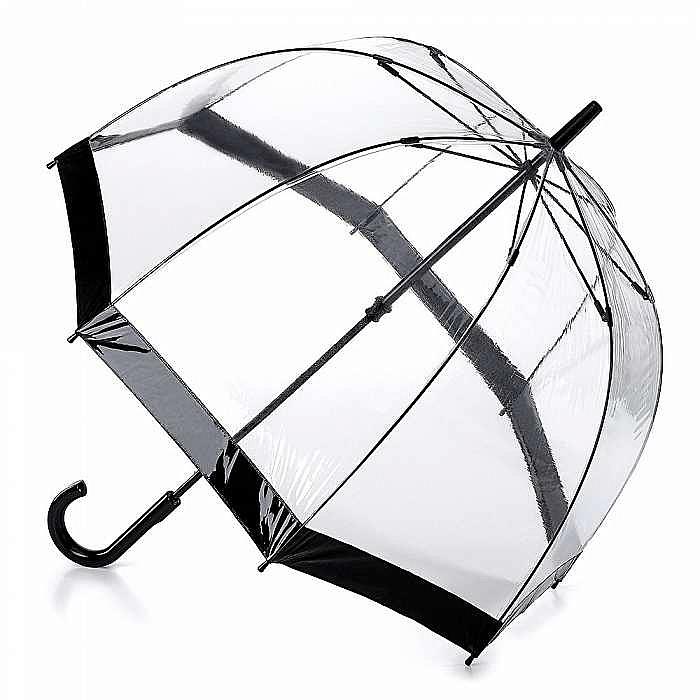 Fulton dámský průhledný deštník Birdcage 1 BLACK L041