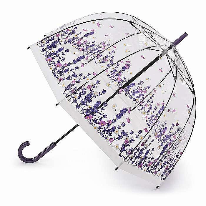 Fulton dámský průhledný deštník Birdcage 2 Flower Field L042