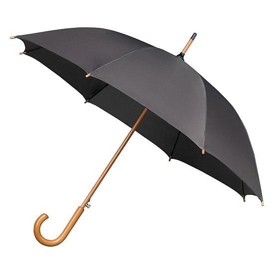 Falconetti® Holový deštník AUTOMATIC tm. šedý