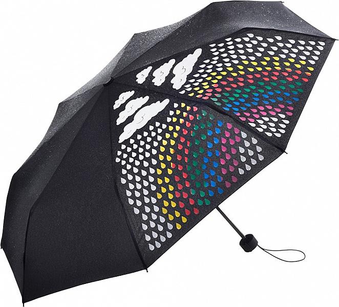 FARE dámský skládací deštník Colormagic MINI černý 5042