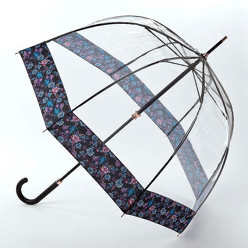 Fulton dámský průhledný deštník Birdcage 2 LUXE LUMINOUS FLORAL L866