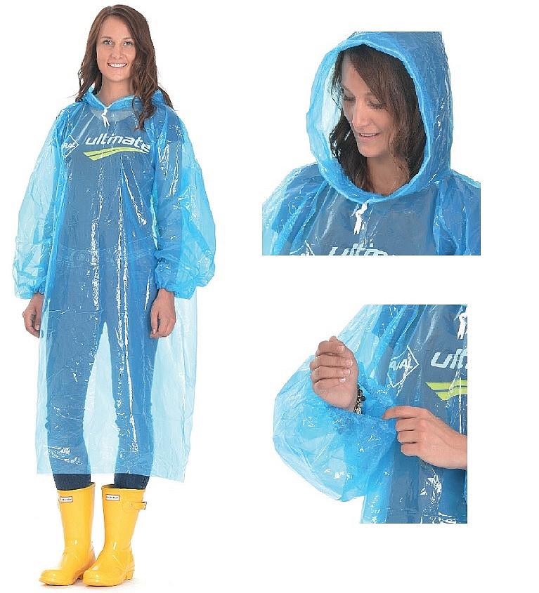 Ráj Deštníků ELISA pláštěnka s dlouhým rukávem - MIX žlutá/transparentní