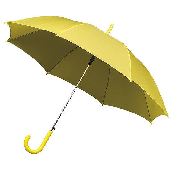 Impliva Dámský holový deštník STANDARD žlutý