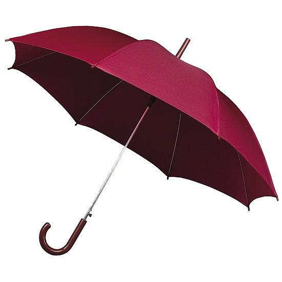 Impliva Dámský holový deštník STANDARD vínový