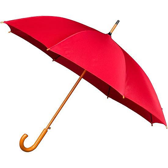 Falcone® Dámský holový deštník AUTOMATIC červený