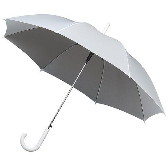 Impliva Dámský holový deštník STANDARD bílý