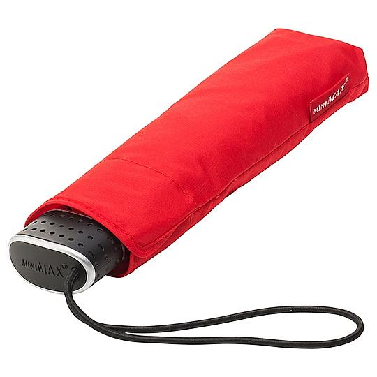 miniMAX® Dámský skládací deštník MALIBU červený